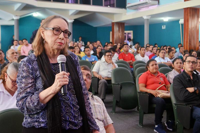 Rosario Fiallos de Aguilar, hija del doctor Mariano Fiallos Gil