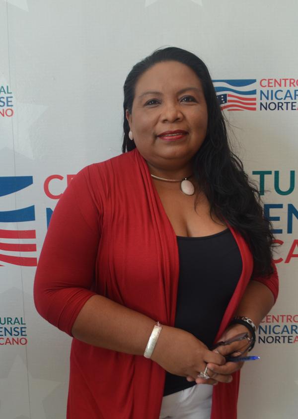 Vicepresidenta del Sistema Bibliotecario Universitario de Nicaragua, SIBIUN, maestra Maritza Vallecillo Flores.