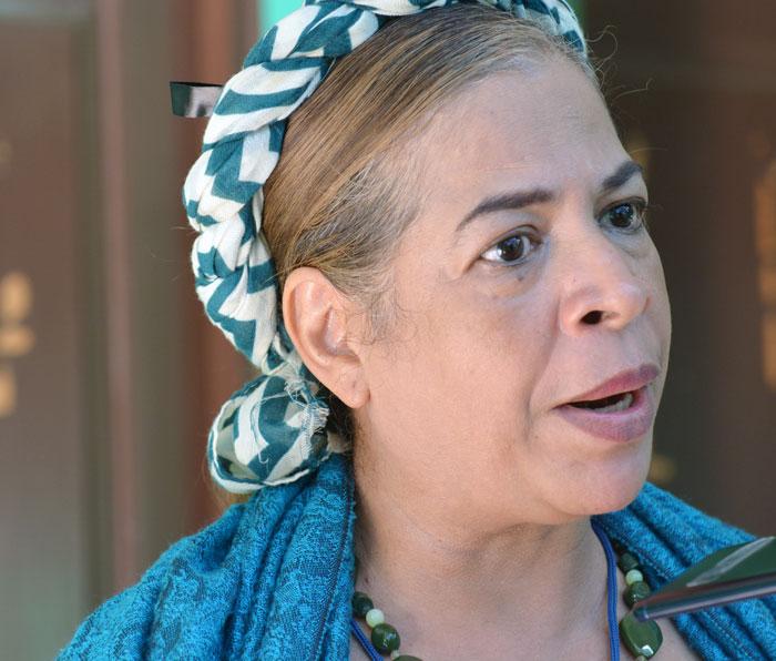 Cleopatra Morales, directora de cultura de la UNI, coordinadora de la Comisión de la Comisión Nicaragüense Interuniversitaria de Cultura del CNU.