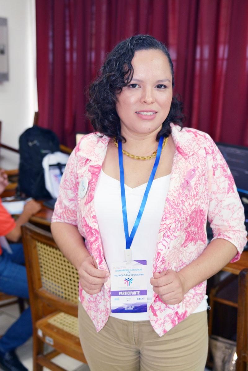 Keyla Munguía Mairena, docente virtual en el centro Tecnológico Manuel Olivares.