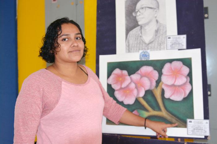 Marian Adriana Mendieta Gutiérrez, del quinto año de la carrera de Ingeniería Civil, UNI.