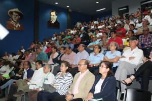 Miembros del CNU que participaron en la actividad informativa a cargo del Secretario del MINSA.