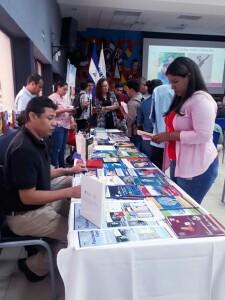 Durante el Lanzamiento del Festival Nacional de Publicaciones Educativas, el pasado 23 de abril de 2020, auditorio Fernando Gordillo.