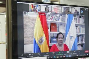 Representantes de bibliotecas universitarias centroamericanas durante la reunión.