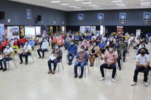 Participantes de las distintas universidades que participaron en el encuentro de bibliotecarios