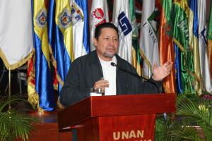 Compañero Salvador Vanegas, Ministro Asesor de la Presidencia de la Republica para temas educativos.