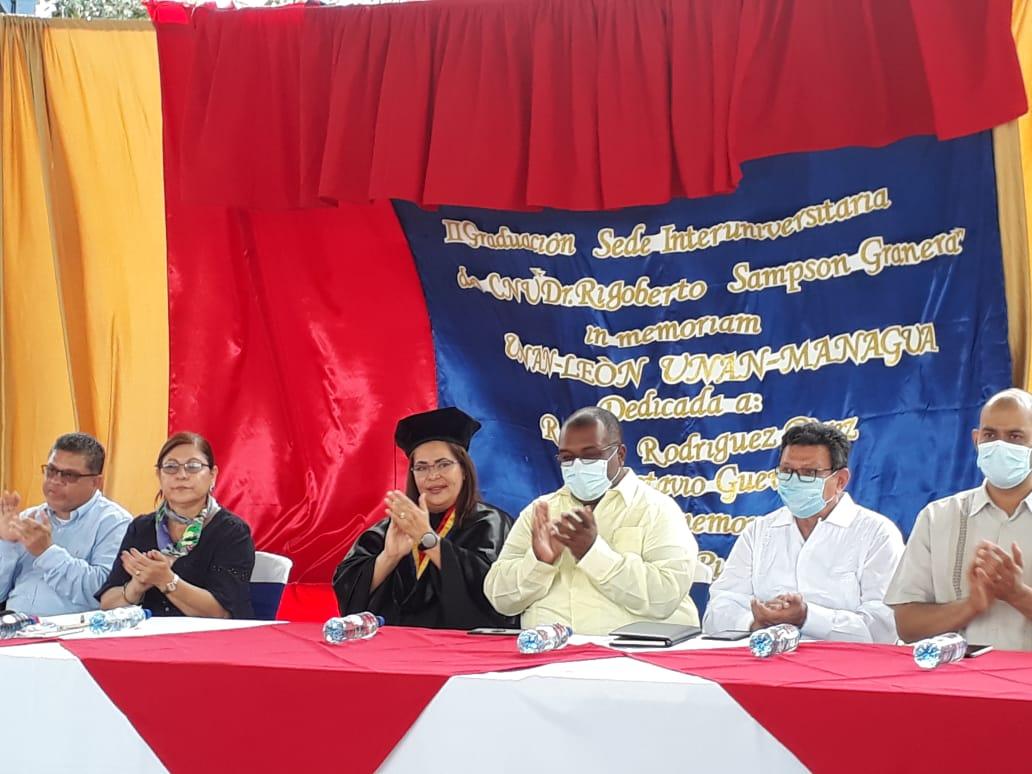 Presidenta del CNU y Rectora de la UNAN-Managua, maestra Ramona Rodríguez.