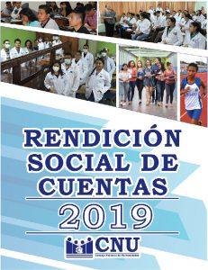 RENDICIÓN SOCIAL DE CUENTAS 2019